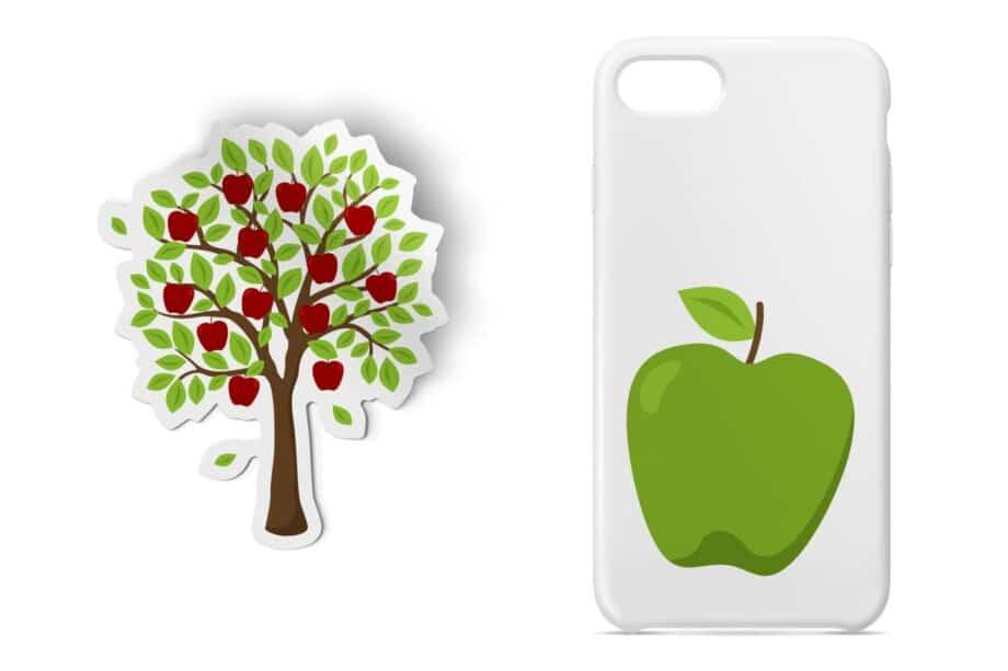 Autumn Apples Clipart Sample 4