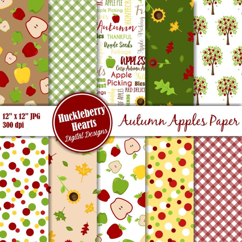 Autumn Apples Paper Sample