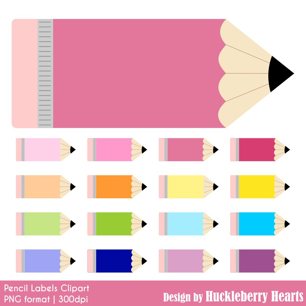 pencil label clipart huckleberry hearts