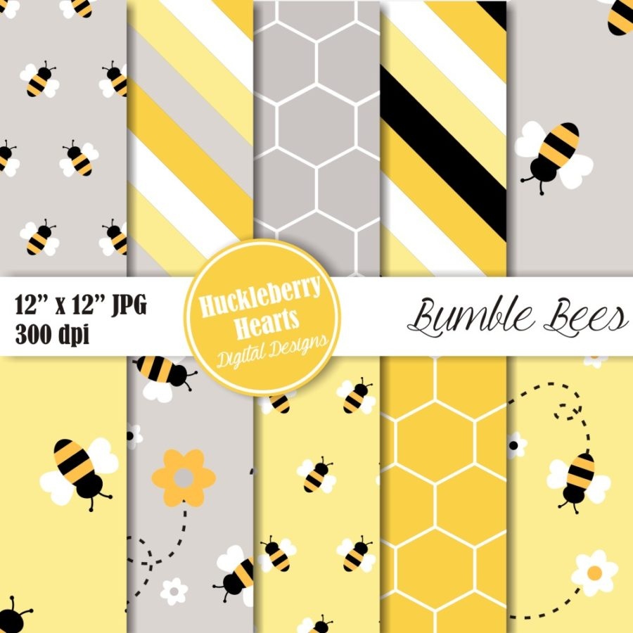Bumble Bee Digital Paper