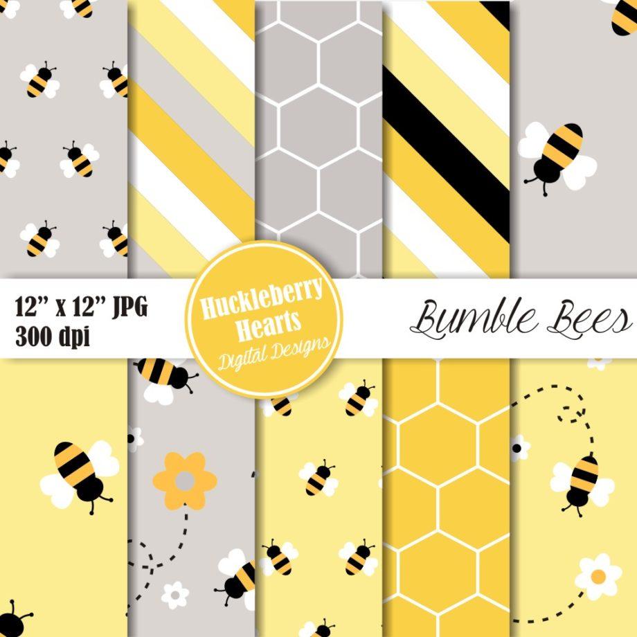 Bumble Bee Digital Paper