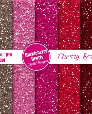 Cherry Berry Glitter Paper