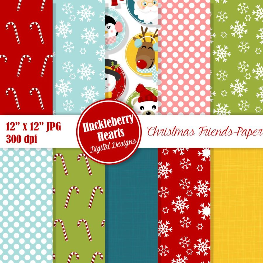 Christmas Friends Paper