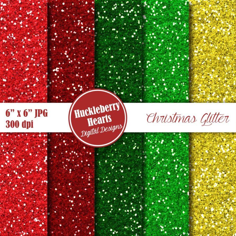 Christmas Glitter Paper