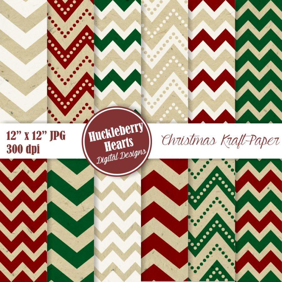 Christmas Kraft Paper