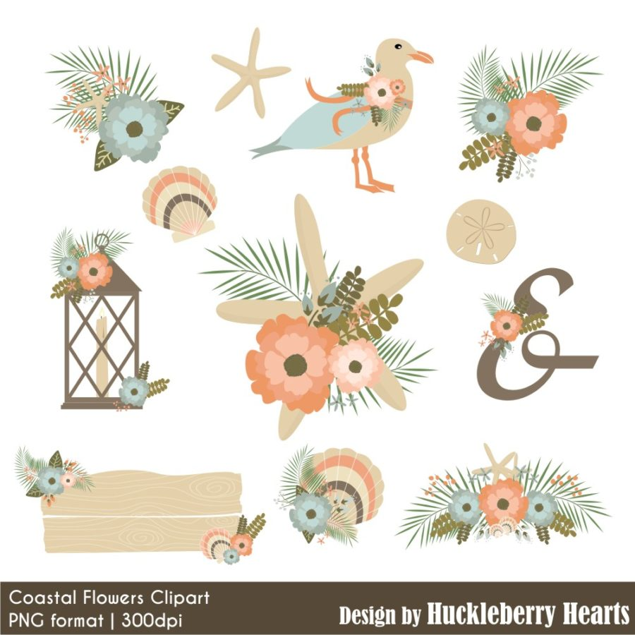 Costal Flowers Clipart