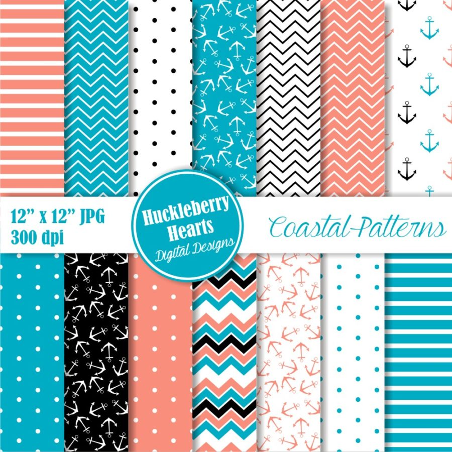 Coastal Patterns Digital Paper