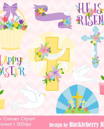 Easter Crosses Clipart