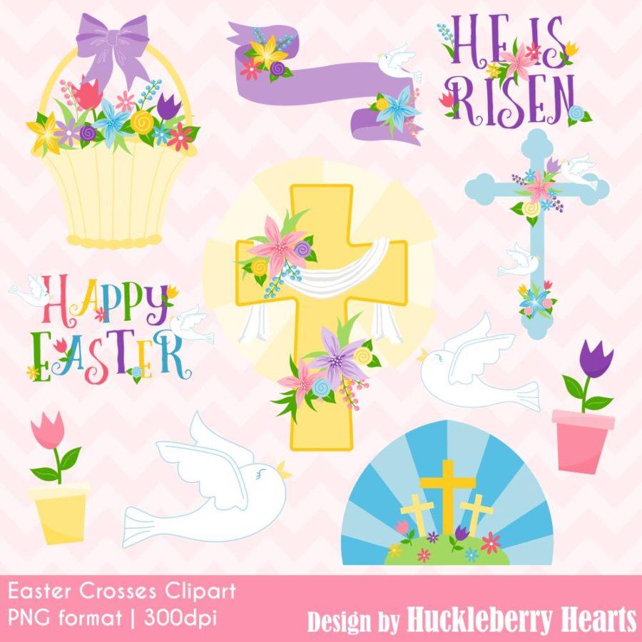 Easter Crosses Clipart