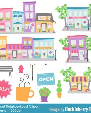 Whimsical Neighborhood Clipart