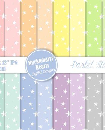 Pastel Stars Paper