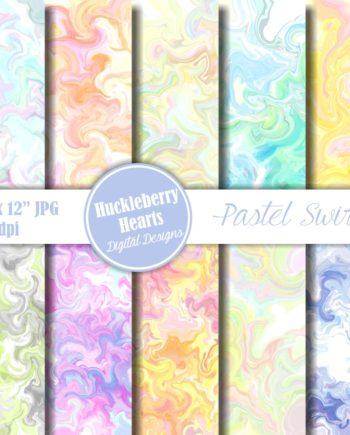 Pastel Swirls Paper