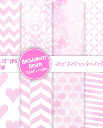 Pink Watercolor Patterns