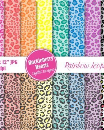 Rainbow Leopard Print Paper