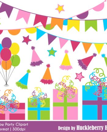 Rainbow Party Clipart