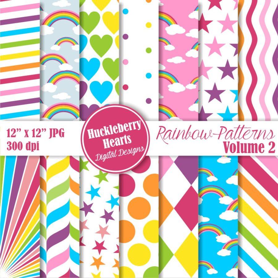 Rainbow Patterns vol 2 Paper