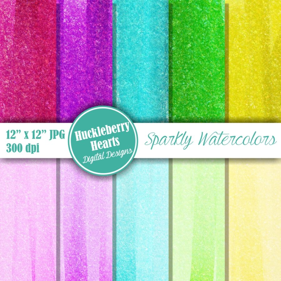 Sparkly Watercolor Backgrounds