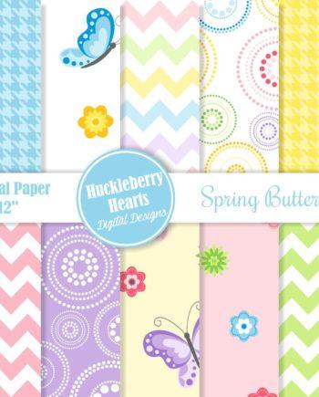 Spring Butterflies Paper