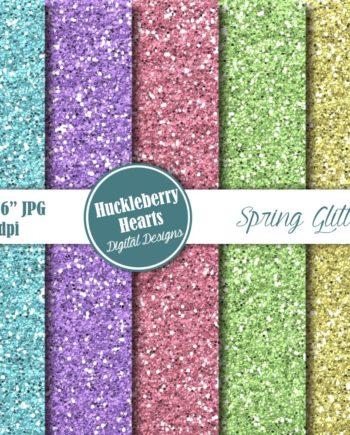 Spring Glitter Paper