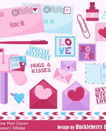 Valentine Mail Clipart