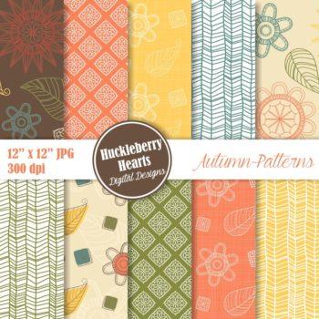 Autumn Patterns Digital Paper