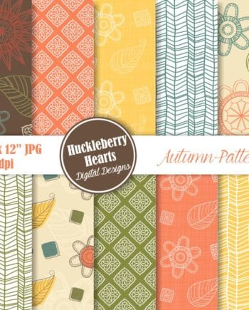 Autumn Patterns Digital Paper