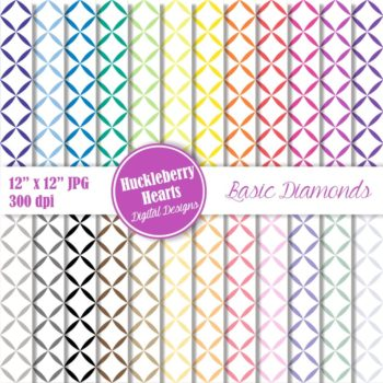 Basic Diamonds Digital Paper