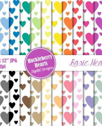 Basic Hearts Digital Paper