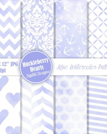 Blue Watercolor Patterns Paper