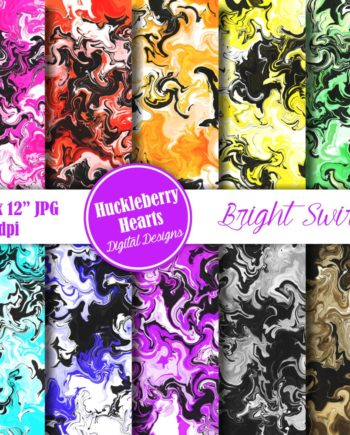 Bright Swirls Paper