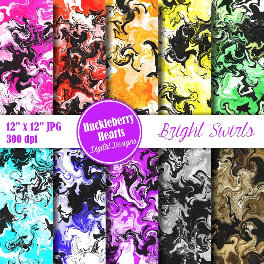 Bright Swirls Paper