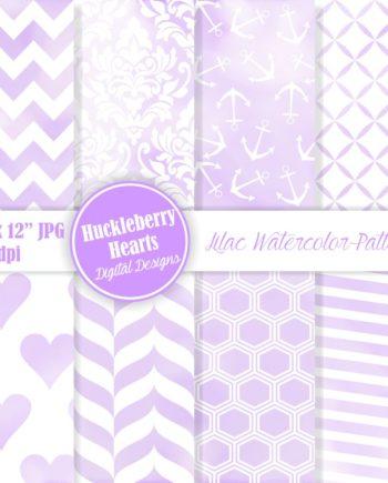 Lilac Watercolor Digital Paper