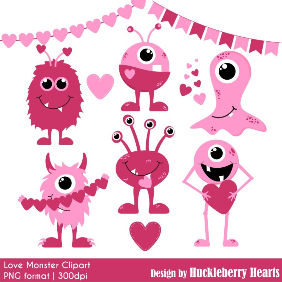 Valentines Day Monster Clipart