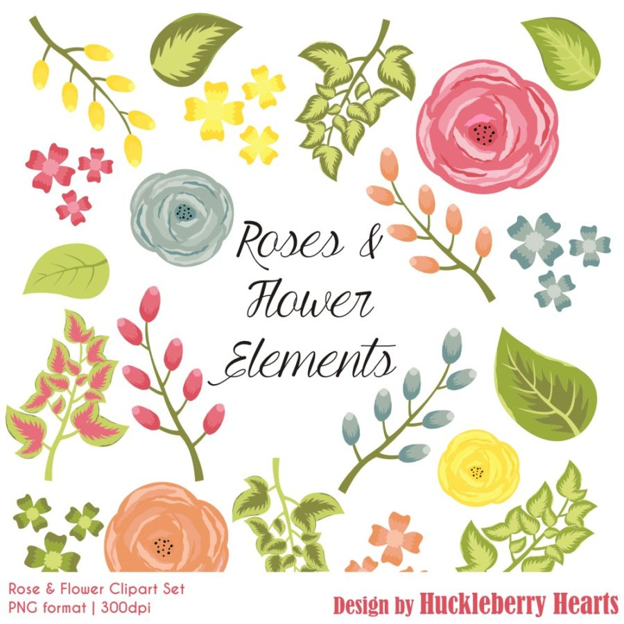 Rose and Flower Clipart