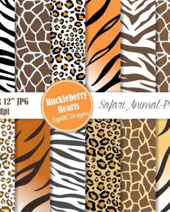 Safari Animal Prints Paper