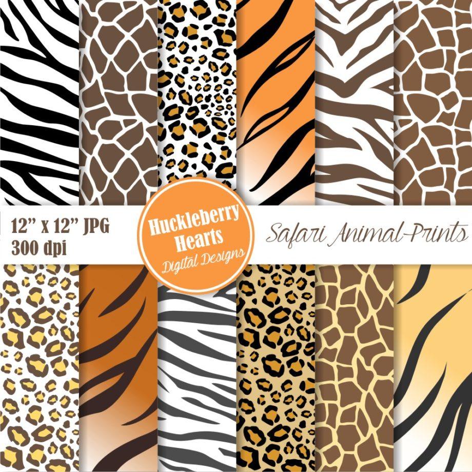Safari Animal Prints Paper