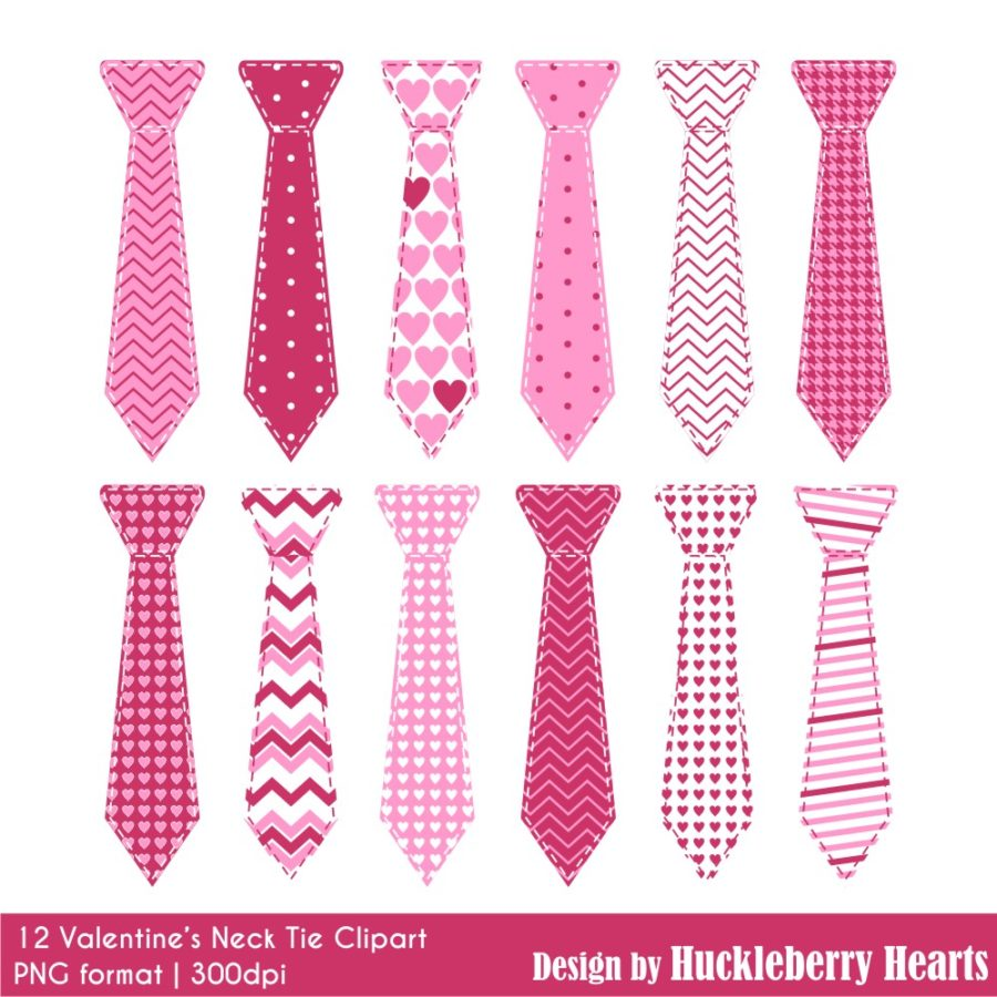 Valentine's Day Neck Ties Clipart