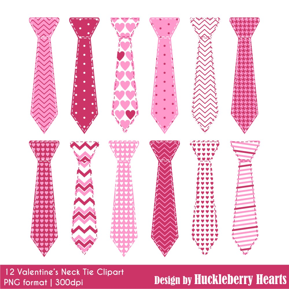1282730d519c Valentine's Day Neck Ties Clipart | Huckleberry Hearts