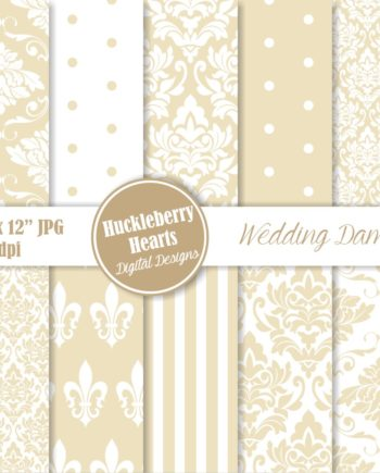 Wedding Damask Papers