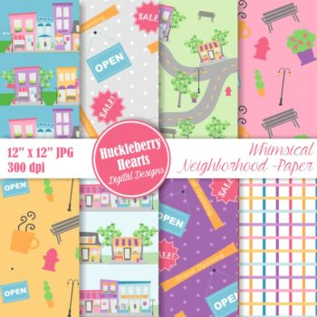 Whimsical Neighborhood Paper
