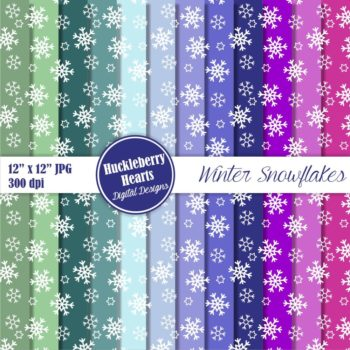Winter Snowflakes Digital Paper