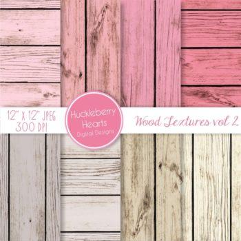 Pink Wood Textures Digital Paper