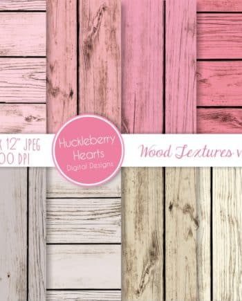 Pink Wood Textures Digital Paper