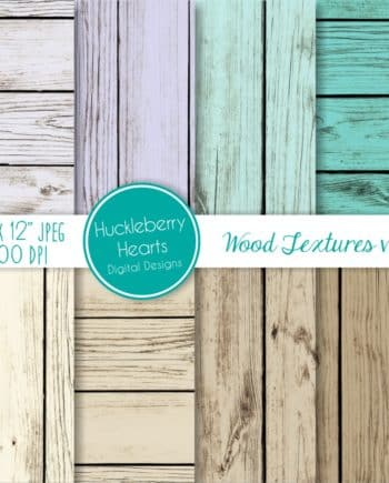 Teal Wood Textures Digital Paper