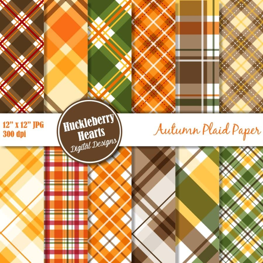 Autumn Plaid Digital Paper