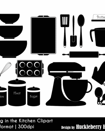 Baking In The Kitchen Clipart