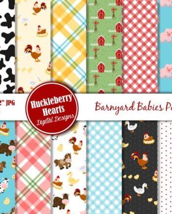 Barnyard Babies Digital Scrapbook Paper