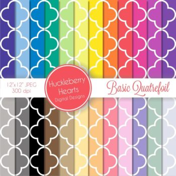 Basic Quatrefoil Digital Paper