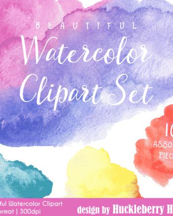 Beautiful Watercolor Clipart