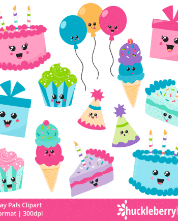 Birthday Pals Clipart